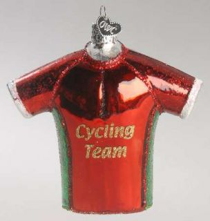Merck Familys Old World Christmas Ornament Bicycle Jersey 8859915