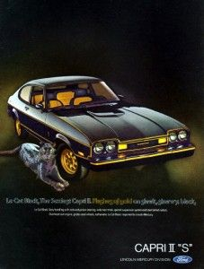 1976 Mercury Capri II s Flashes of Gold Original Color Ad
