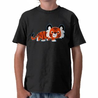 Cute Cartoon Tiger on The Prowl Children T Shirt