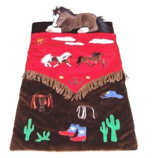 Cowboy Western Sleeping Bag Rustic Horse Unique New