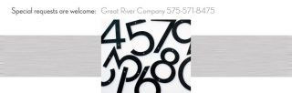 Modern House Numbers Steel Modern Font 4 Tall