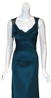 David Meister Elegant Draped Jersey Gown Dress 4 New