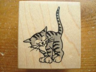 PSX C 850 Adorable Kitty Cat Animal Rubber Stamp
