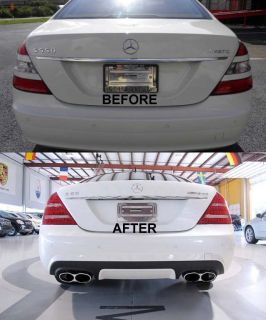 Mercedes S550 S600 S63 S65 AMG Rear Bumper Cover 2007 2008 2009 w Hole