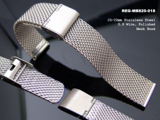 20mm Stainless Steel Design Wire Mesh Watch Band Strap