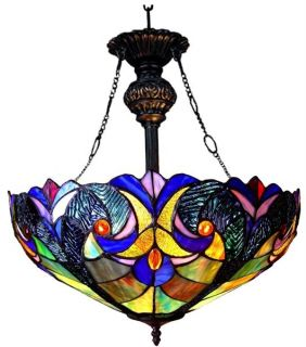 Deco Stained Glass Pendant Hanging Lamp Tiffany Style 18 Shade