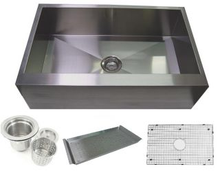 33 Apron Front Stainless Steel Farmhouse Kitchen Sink Combo with