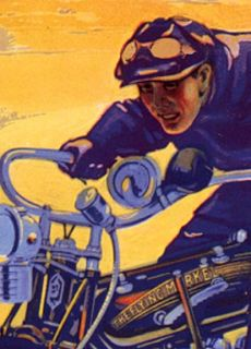 1913 The Flying Merkel Classic Motorcycle Poster 16x24