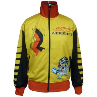 Ed Hardy Black Mens Country Track Jacket with Stones