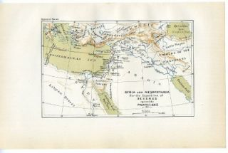 Syria Mesopotamia Parthians EMP 1886 Antique Map Print