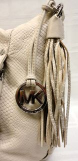 This is a 100% MICHAEL KORS Bowen Dove White Python Snake BAG SHOULDER