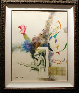Michael Gorban Untitled Original NR HAND SIGNED PAINTING Ballet RoseL