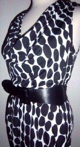 Heart Soul Jrs Sz White with Black Polka Dot Dress
