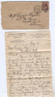 Oldhal Detroit MI Letter 1887 Dental Surgical Depot