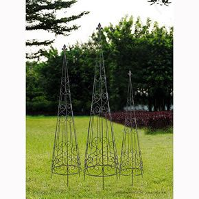 Metal Plant Stand Garden Topiary Trellis Set of 3 D33754