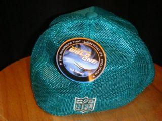 Reebok Miami Dolphins Hat Cap Sideswipe Mesh Back Green