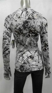 Nike Misses Shirt Top Sz s White Brown Athletic Pattern Sale Designer