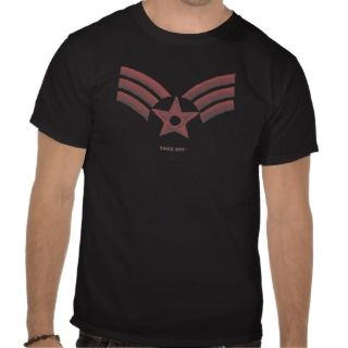 Red US Air Force T shirt