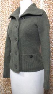 Crew Womens Thick Chunky Knit Button Up Long Sleeve Cardigan Sweater