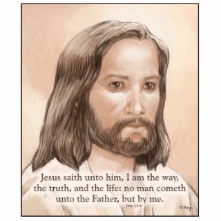 Sepia Jesus Art Bible Quote   John 14:6 Photo Cutouts