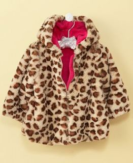 First Impressions Baby Jacket, Baby Girls Animal Faux Fur Jacket