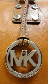 Authentic Michael Kors Astor Genuine Brown Leather Luggage Satchel