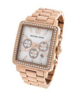 Michael Kors Womens MK5571 Rose Gold Chronograph Watch