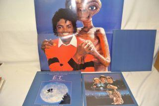 LP Michael Jackson E T Narrated Vinyl Record Poster Vintage