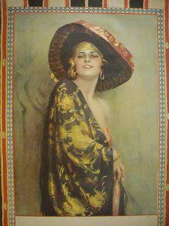 Mexican Spanish Woman Pin Up Print Mariquita Description A vintage