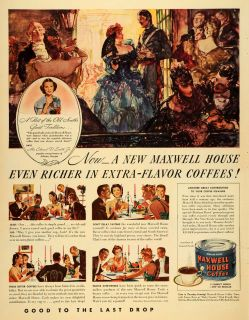 1940 Ad Maxwell House Coffee Meredith Willson Orchestra   ORIGINAL