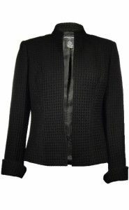 Sutton Studio Womens Wool Blend Waffle Textured No Close Jacket Petite