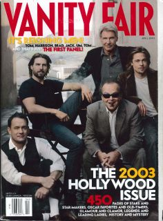 Vanity Fair Jack Nicholson Harrison Ford Brad Pitt Tom Hanks Cruise 4