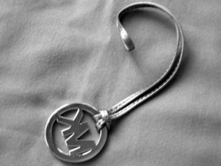 New Michael Kors Silver Chrome MK Silver Metalic Leather Strap Hangtag