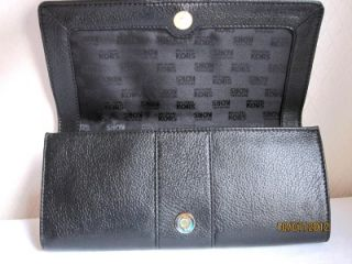 Michael Michael Kors Black Sutton Genuine Leather Clutch Purse