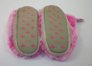 Jenni Jennifer Moore Womens L Soft Bright Pink Tyedye Plush Bootie