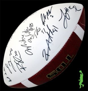 2012 San Diego Chargers Team Signed Auto Wilson Football NFL COA