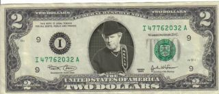 Merle Haggard $2 Dollar Bill Mint RARE $1