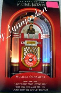 Michael Jackson Musical Jukebox Ornament 3 Songs New