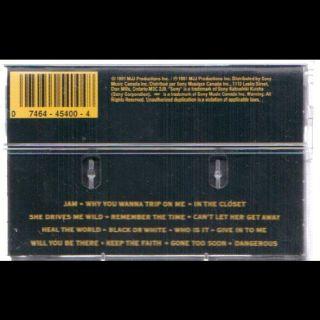 Michael Jackson Dangerous Cassette VG Canada Epic
