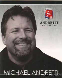 2011 Michael Andretti Andretti Autosport Indy Car Postcard