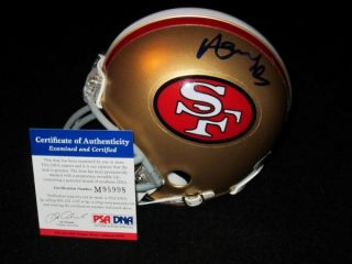 Merton Hanks Signed San Francisco 49ers Mini Helmet PSA DNA