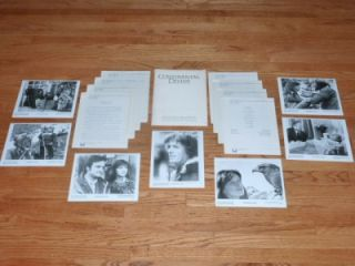Continental Divide 1981 Movie Press Kit John Belushi Steven Spielberg