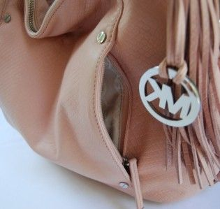 348 Michael Kors Bowen Python Large Shoulder Bag Blush