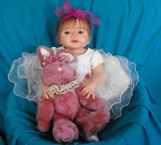 Soft Silicone/Vinyl Reborn Baby Girl Victoria Sheila Michaels ~Madison