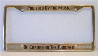 Michael Crawford License Plate Holder Phantom of The Opera
