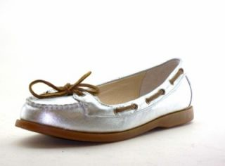 Michael Kors Tabitha Womens Shoes Silver Moccasins 6 5
