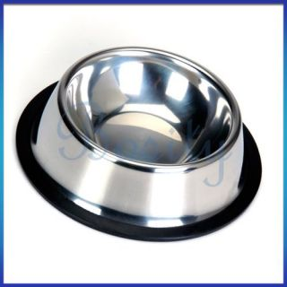 Stainless Steel Dish Bowl Large Pet Dog Cat Feeder 5