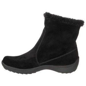 Naturalizer Womens Winter Suede Videena Ankle Boots 9 5 Black