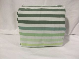 Lacoste Canopy Green Stipe Twin Duvet Cover Set
