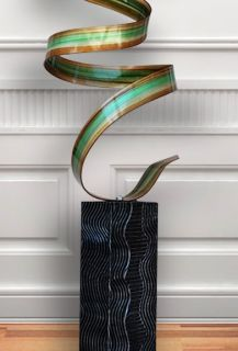 Modern Abstract Outdoor Metal Art Sculpture Originial  Havana Twist By